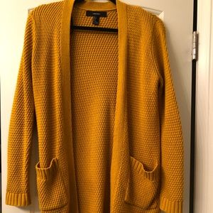 Cable Knit Mustard Cardigan